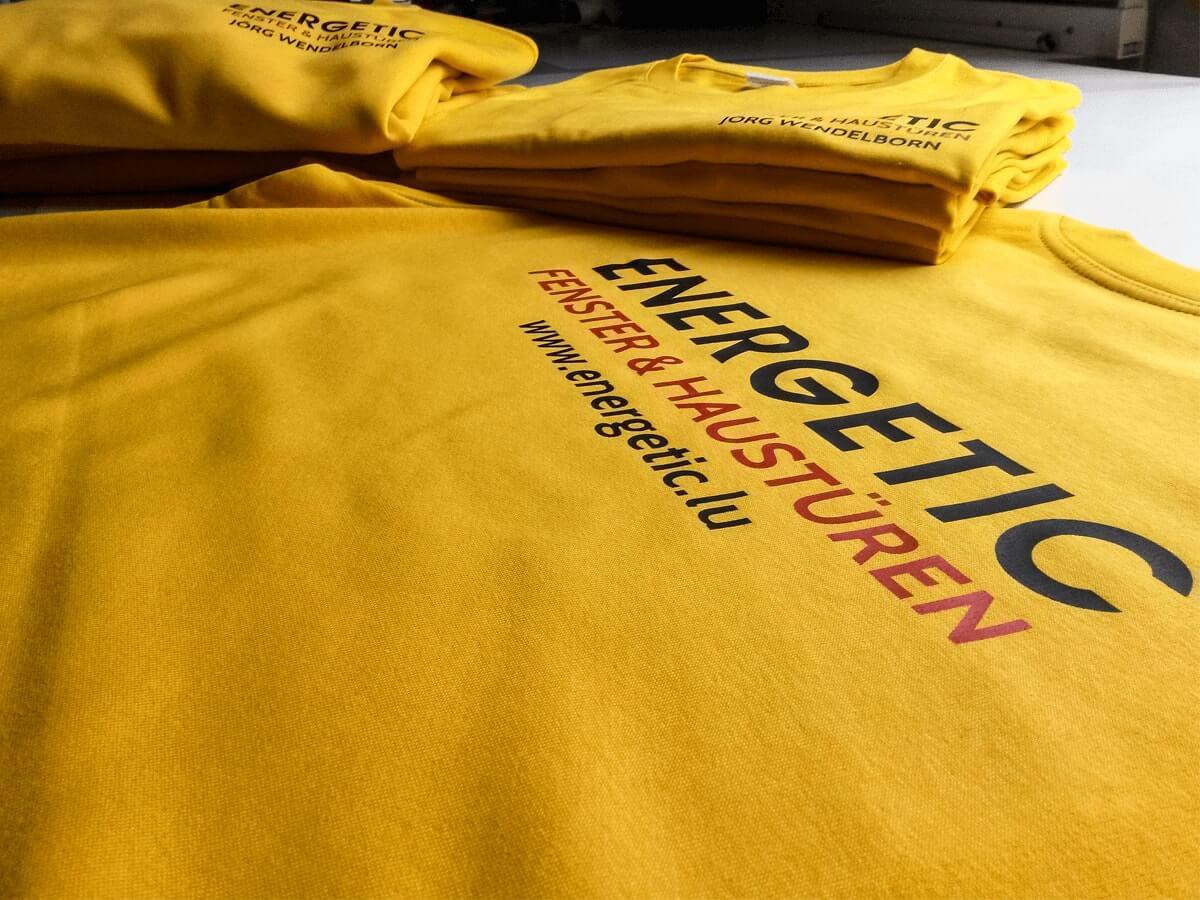 Energetic Sàrl - Bedruckte T-Shirts