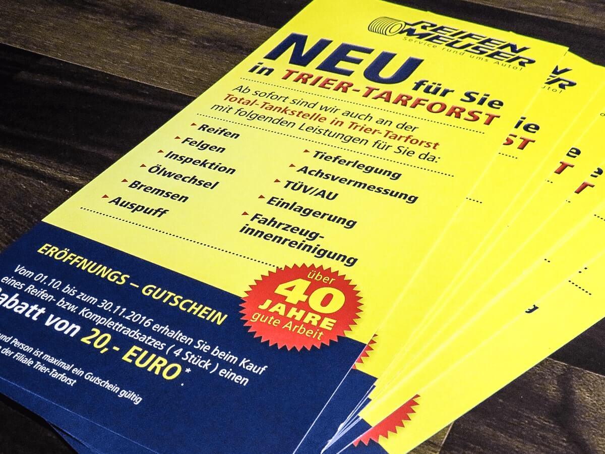 Reifen Meuser GmbH - Flyer