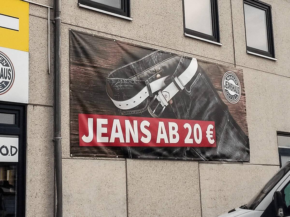 Jeanshaus Markenoutlet - Werbebanner