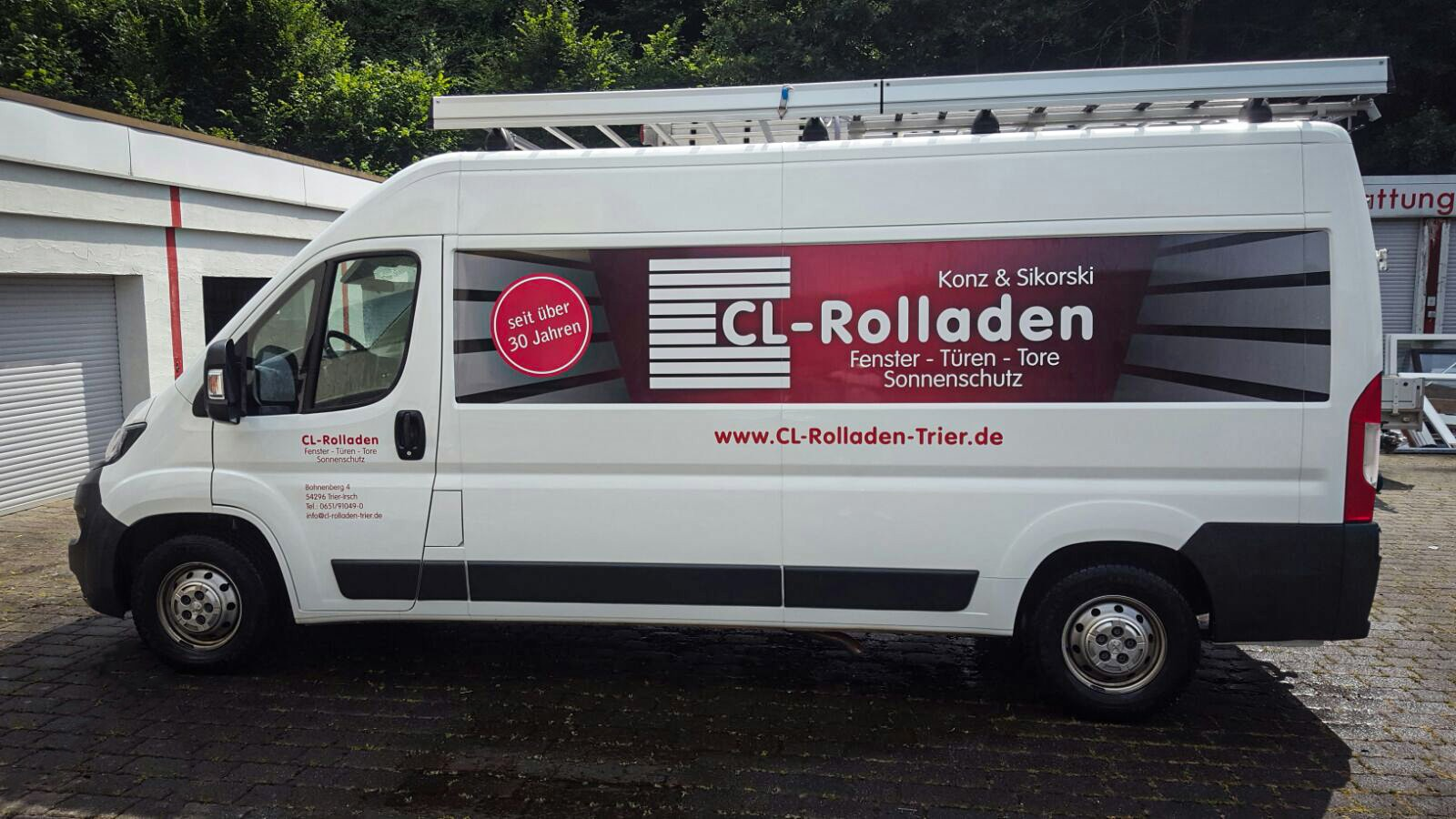 CL-Rolladen - Fahrzeugbeschriftung