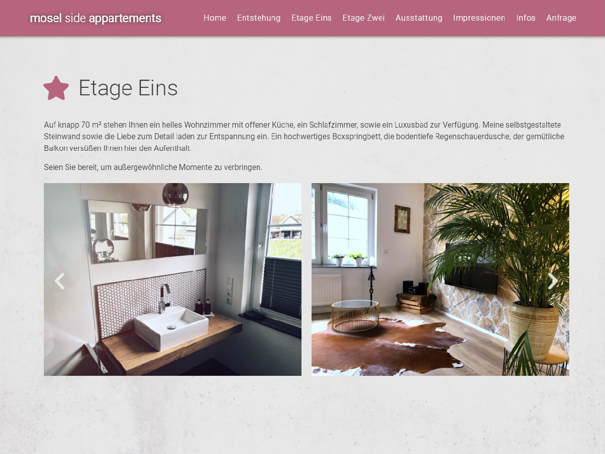 Mosel Side Appartements - Onepager